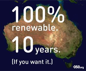 100 Percent Renewables in 10 years - Oz