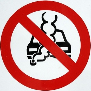 small image - no idling car sign