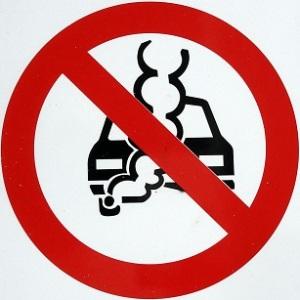 small image - no idling car sign