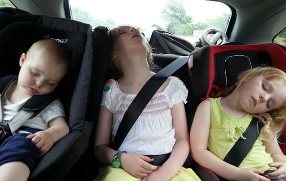 Kids in back of car