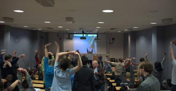 Power Shift UK - Stretching after Day 1